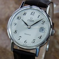 Omega Geneve Swiss Made Mens Auto Calibre 1012 Stainless Steel...