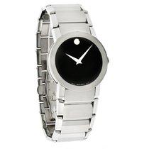 Movado Sapphire Mens Steel Swiss Quartz Watch 0605063