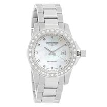 Longines Conquest Ladies Diamond Bezel Quartz Watch L3.258.0.89.6