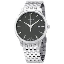 Tissot T-classic Black Dial Stainless Steel Men's Watch...