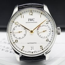 IWC IW500704 Portuguese 7 Day Automatic SS Silver Dial Rose...