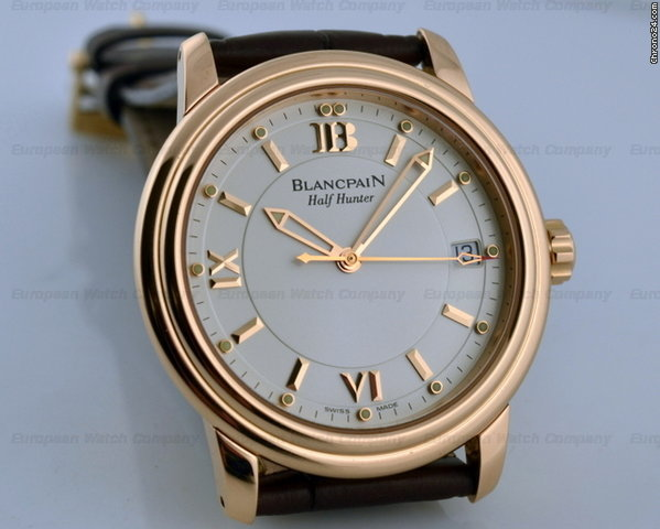 Blancpain Leman Half-Hunter 18K Rose Gold LIMITED 38MM