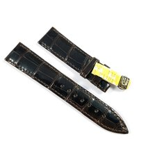 Corum 18 / 16 mm deep brown shiny Alligator Strap NEW