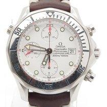 Omega Speedmaster Chronograph White Dial On Vintage Look...
