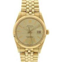 Rolex Men's Rolex Date 18k Yellow Gold 15037
