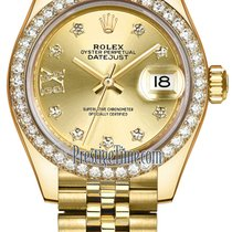 Rolex Lady Datejust 28mm Yellow Gold 279138RBR Champagne 17...