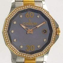 Corum Admiral's Cup Legend 38 Rose Gold/Steel MOP Diamonds