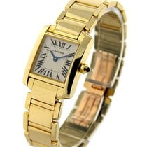 Cartier W50002N2 Small Size Tank Francaise - Yellow Gold on...