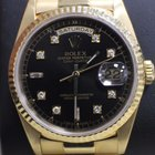 Rolex President Day Date Yellow Gold Diamond Dial Double Quickset
