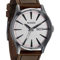 Nixon Sentry Leather A105-1113 Silver Brown Herren