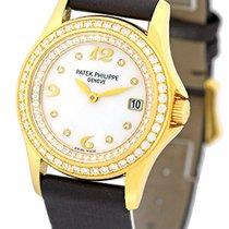 "Patek Philippe Lady's 18K Yellow Gold  Ref # 4906 ""Dia..."