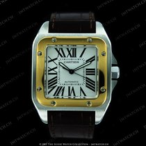 Cartier Santos 100 steel and yellow gold