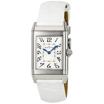 Jaeger-LeCoultre Reverso Duetto Black Dial White Leather...