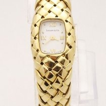 Tiffany & Co 18k Yellow Gold Basket Weave Bracelet Ladies...
