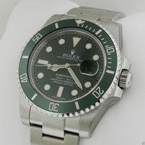 Rolex 116610LV Submariner Stainless Steel Green Ceramic Bezel...