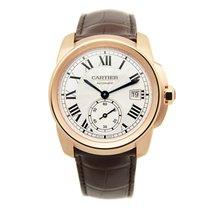 Cartier Calibre De Cartier 18k Rose Gold Silvery White...
