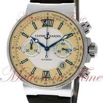 Ulysse Nardin Maxi Marine Chronograph, Silver & Ivory Dial...