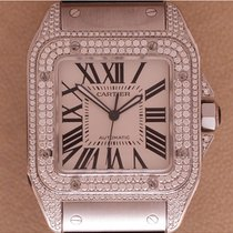 Cartier 2656 Santos 100 GM Diamonds