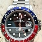 Rolex GMT Master Red Blue Pepsi Bezel Date Mens Watch 16700