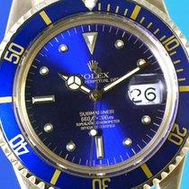 Rolex Submariner 1680/8 (1972) vintage plexi blue gold nipple...