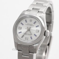 Rolex Lady Oyster Perpetual Ref 176200 Blue Stick