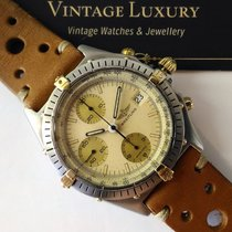 Breitling Chronomat Vintage 81950 Acc&Oro Beige Safari dial