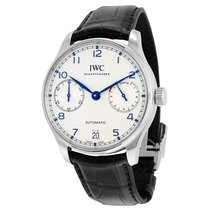IWC Men's IW500705 Portuguese Silver Plated Automatic  Watch