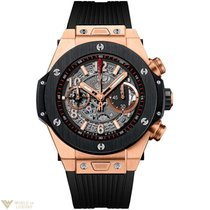 Hublot Big Bang 45 mm Unico 18K King Gold Ceramic Rubber Men`s...
