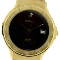 Hublot DG4876 Classic Elegant in Yellow Gold - On Black Rubber...