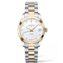 Longines Conquest Classic Mother of Pearl Diamond Ladies Watch...