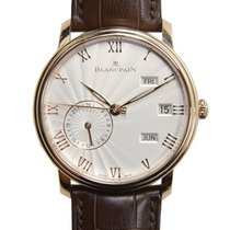Blancpain Villeret 18k Rose Gold Silvery White Automatic...