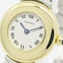 Cartier Polished Cartier Colisee Belle Epoque 18k Gold Steel...