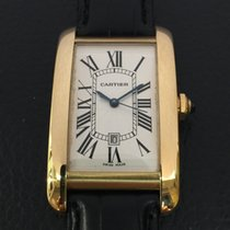 Cartier Tank American automatic 18k yellow Gold