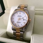 Rolex Oyster Date Gold Steel White Roman Dial 34 mm (19...