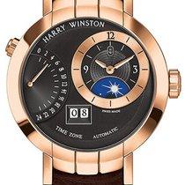 Harry Winston Premier Excenter Timezone 41mm prnatz41rr002