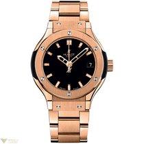 Hublot Classic 18K Rose Gold Quartz Bracelet Ladies Watch