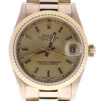 Rolex Mid-size 18k President 68278 31 Mm Champagne Dial