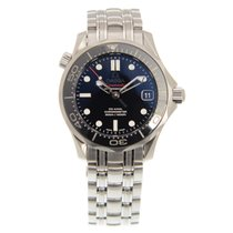Omega Seamaster Stainless Steel Black Automatic 212.30.36.20.0...