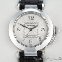 Cartier PASHA 35 mm WEISSGOLD 750 DIAMANTEN AUTOMATIK