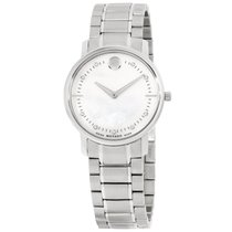 Movado 0606691 Ladies Stainless Steel Mother Of Pearl Quartz...