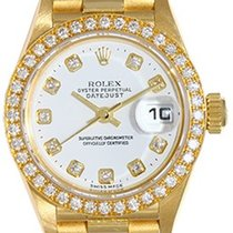 Rolex Ladies President Diamond Watch For Women 79178 White Dial