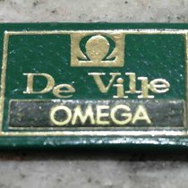 Omega vintage display tag green de ville model