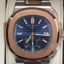 Patek Philippe Nautilus Chronograph Blue Dial  / 2016 5980/1AR