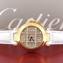 Cartier Pasha Gold Diamond Grid 32MM Ladies Watch WJ11951G