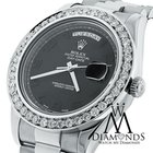 Rolex Day-date Ii Presidential White Gold - Diamond Bezel -...
