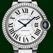 Cartier Ballon Bleu Automatic 18K White Gold Diamonds Box&...