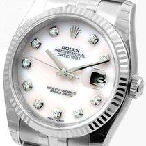 Rolex SS 36mm Datejust Factory MOP Diamonds 116234 Unworn
