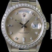 Rolex 18049 Day Date President 18k  Diamond Markers W/ Diamond...
