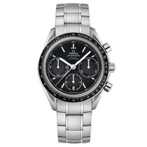 Omega Speedmaster Steel Black Dial Automatic Chronograph Mens...