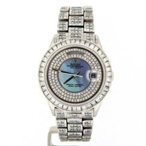 Rolex Platinum Day-date President 35ct Full Diamond 18206